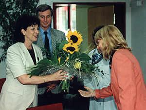 Begrüßung der Schirmherrin Frau Karin Clement